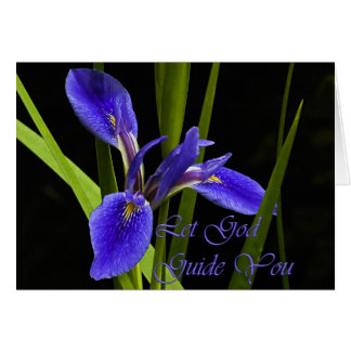 Let God Guide You Iris Card
