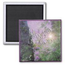 Let God Lilacs & Tree 2 Magnet