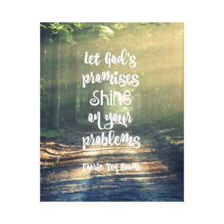 Let God's Promises Shine on Problems Quote Canvas Print