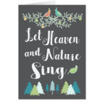 Let Heaven and Nature Sing Christian Christmas Greeting Card