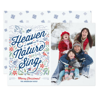Let Heaven and Nature Sing Christmas Card 2