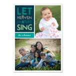 Let Heaven and Nature Sing Christmas Photo Card