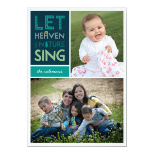 Let Heaven And Nature Sing Christmas Photo Card at Zazzle