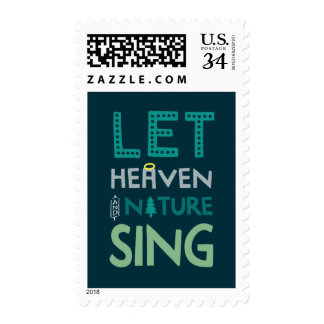 Let Heaven and Nature Sing Postage Stamp