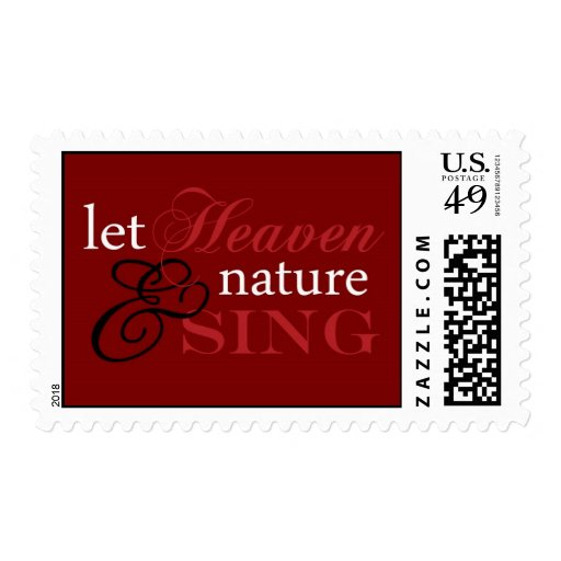 Let Heaven and Nature Sing Red 2 Postage Stamps