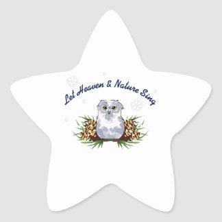 LET HEAVEN AND NATURE STAR STICKER