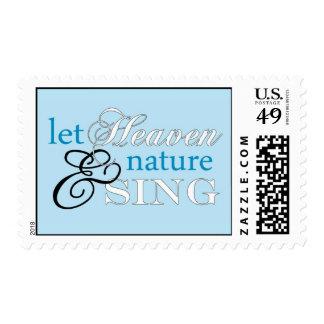 Let Heaven & Nature Blue Postage