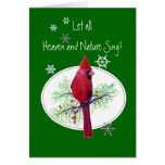 Let Heaven & Nature Sing Scripture Christmas Bird Cards
