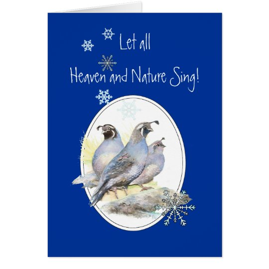 Let Heaven & Nature Sing Scripture Christmas Bird Card