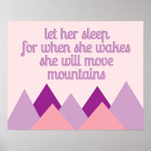 Let Her Sleep Art Print