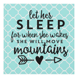 Let Her Sleep Blue Panel Wall Art