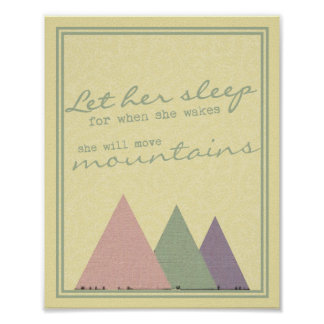 """""""Let Her Sleep For When She Wakes"""" Print"""