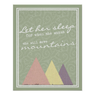 Let Her Sleep For When She Wakes Print