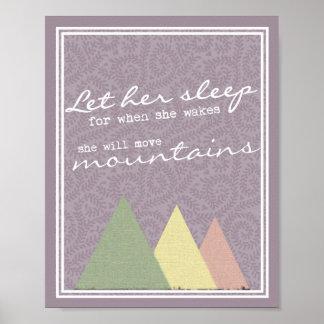 Let Her Sleep Nursery Child's Room Print