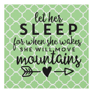 Let Her Sleep Panel Wall Art