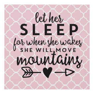 Let Her Sleep Wall Decor