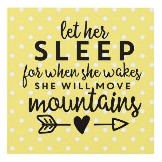Let Her Sleep Yellow Panel Wall Art