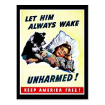 Let Him Always Wake Unharmed Postcard