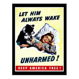 Let Him Always Wake Unharmed Postcard