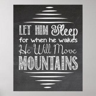 Let Him Sleep Chalkboard Poster
