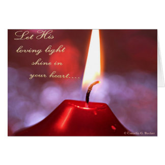 Let His loving light shine in your heart... Card