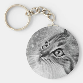 Let is snow  Kitty Cat Keychain