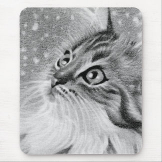 Let is snow  Kitty Cat Mouse Pad
