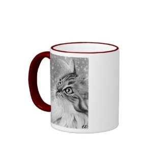Let is snow  Kitty Cat Ringer Coffee Mug