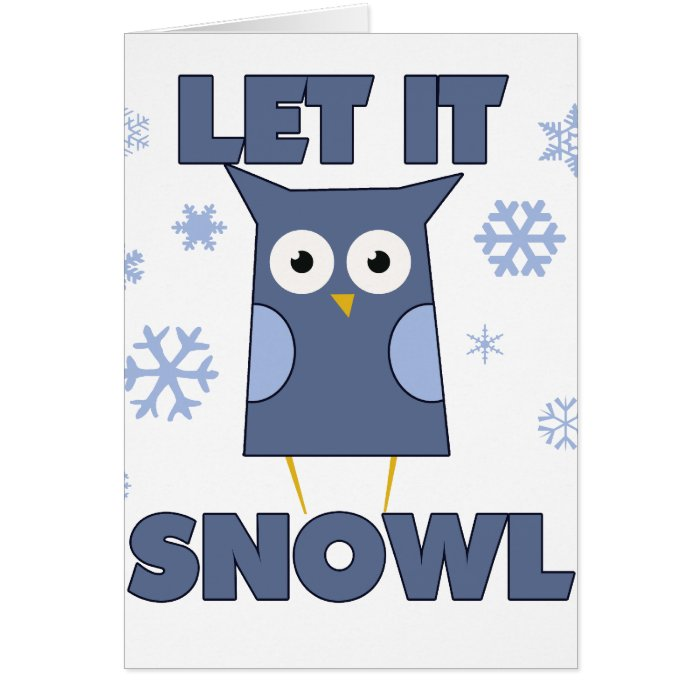 Let is SNOW OWL Card