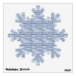 Let is Snow Snowflake Word Art Wall Decal