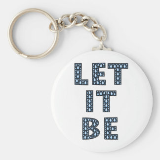 let-it-be-594533 LET IT BE TEARS BLUE CRYING TYPOG Keychain