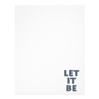 let-it-be-594533 LET IT BE TEARS BLUE CRYING TYPOG Letterhead