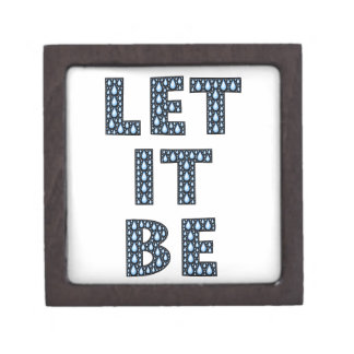 let-it-be-594533 LET IT BE TEARS BLUE CRYING TYPOG Premium Jewelry Box