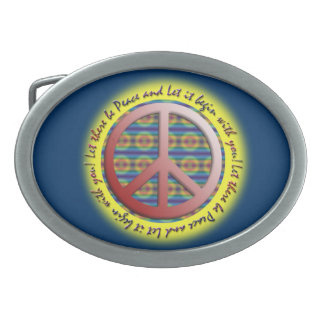 Let it be Peace Belt buckle