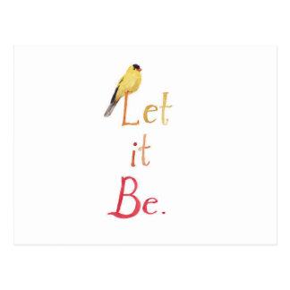 Let it Be Postcard