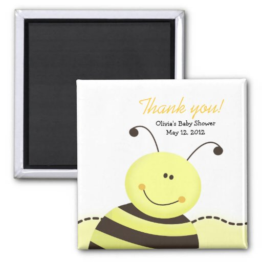 Let it Bee Bumble Bee Baby Shower Favor Magnet