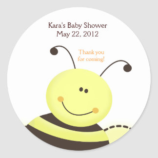 Let It Bee Bumble Baby Shower Favor Sticker
