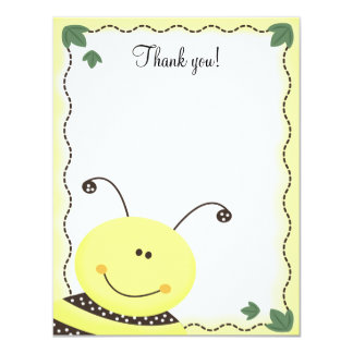 Let it Bee Bumble Bees 4x5 Flat Thank you note Card