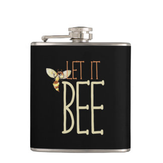 Let it BEE Hip Flask