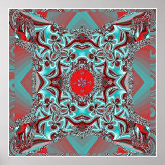 Let it Blossom Mandala Poster
