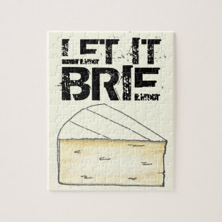 Let It Brie (Be) Creamy French Cheese Wedge Foodie Jigsaw Puzzle