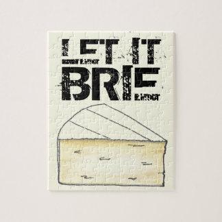 Let It Brie Cheese Wedge Foodie Puzzle