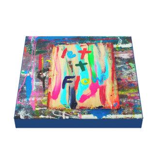 let it flow canvas print