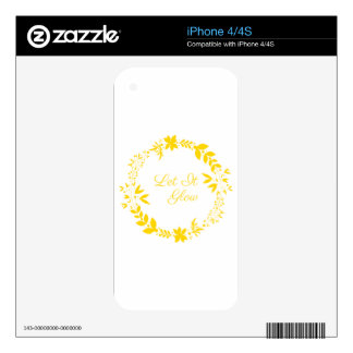 Let It Glow Decal For The iPhone 4