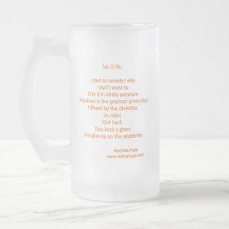 Let It Go Frosted Glass Beer Mug