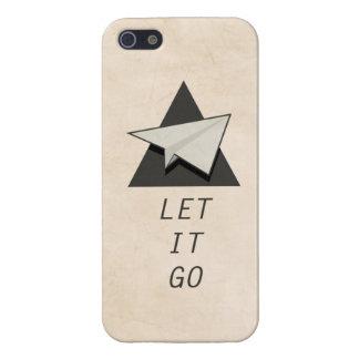 Let It Go Quotes Paper Planes iPhone SE/5/5s Cover