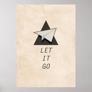 Let It Go Quotes Paper Planes Print