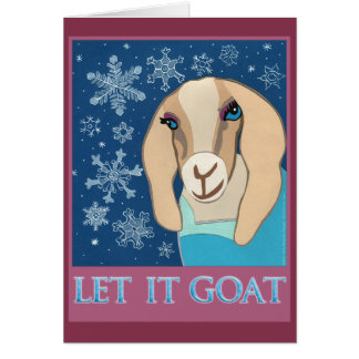Let It Goat greeting card