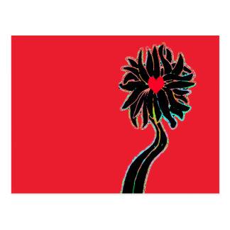 'Let It Grow' Flower Postcard