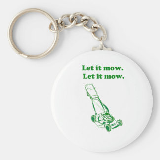 Let it Mow Movie Internet Meme Joke Keychain